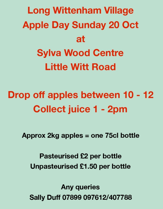 Village Apple Day @ Sylva Wood Centre