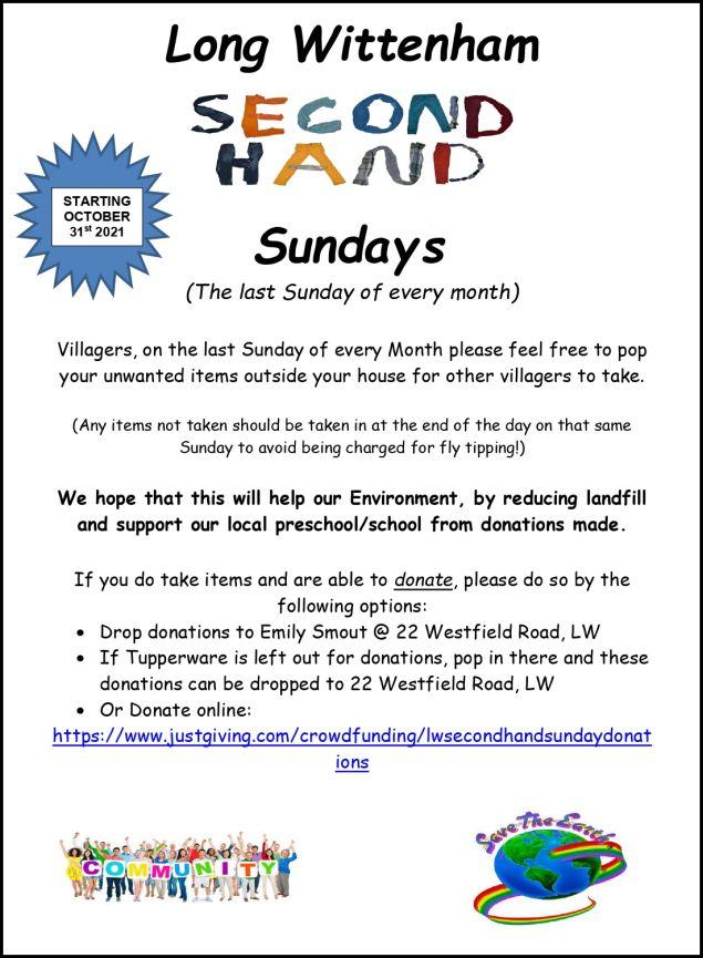 Second Hand Sunday @ Long Wittenham