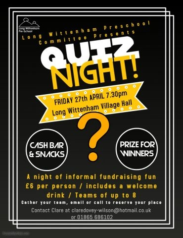 Preschool Quiz Night @ Village Hall